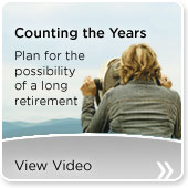 Counting the years - Plan for the possibility of a long retirement