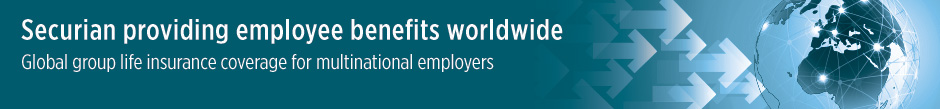 Global group life insurance coverage for multinational employers
